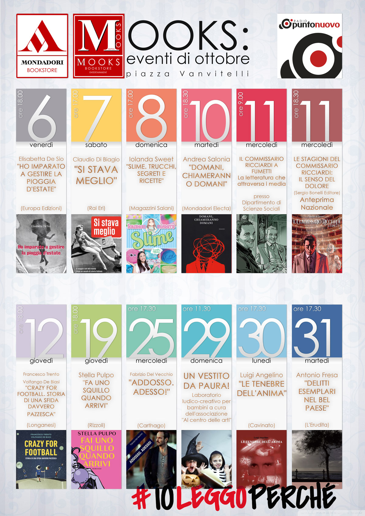 Calendario Ottobre Mondadori MOOKS Napoli